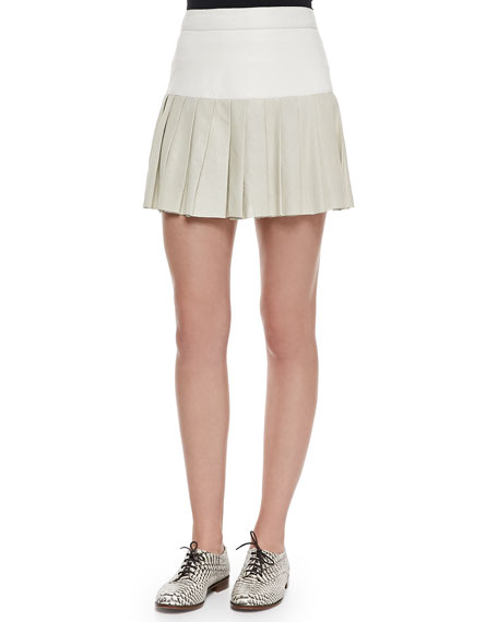 Pam & Gela Pleated Combo Mini Skirt