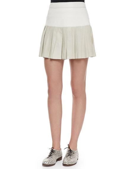 Pam & Gela Pleated Combo Mini Skirt