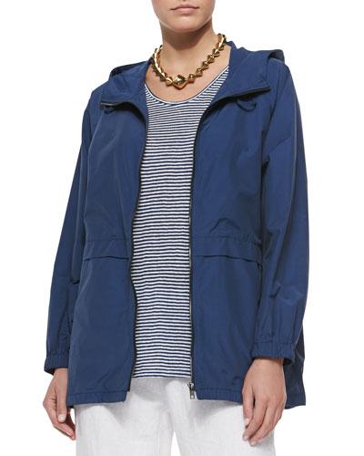 Hooded Anorak Jacket, Denim