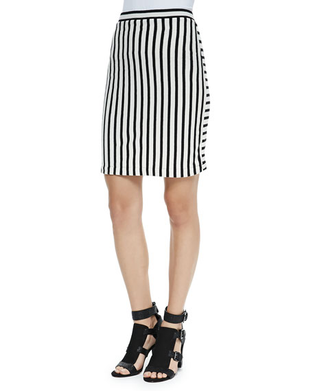 Rebecca Minkoff Kiki Striped Knit Pencil Skirt
