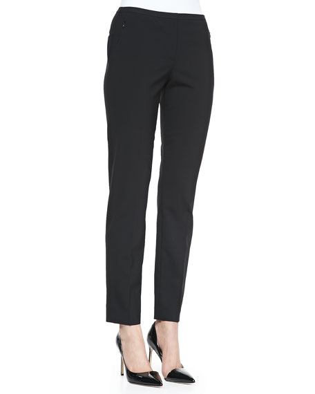 Jillian Straight-Leg Pants, Black