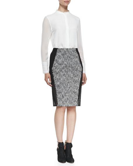 Willow Tweed Pencil Skirt