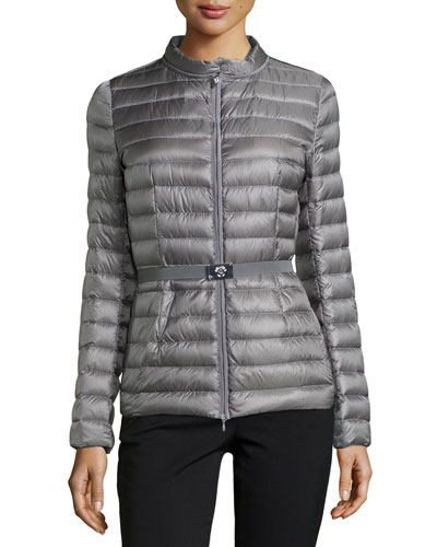 Damas Quilted Puffer Jacket, Light Grey
