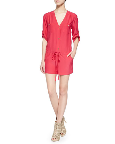 Button-Down Jumpsuit W/ Pockets