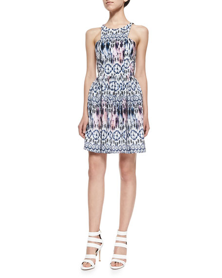 Elle Sleeveless Sand Dollar Printed Dress