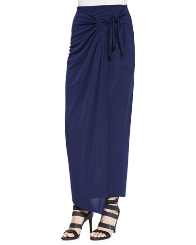 Castaway Tie-Front Maxi Skirt