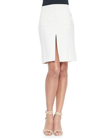 Halston Heritage Pencil Skirt W/ Center Split