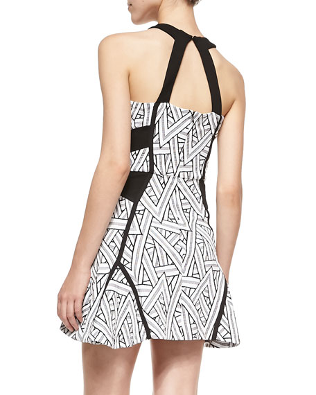 Neve Printed A-Line Halter Dress