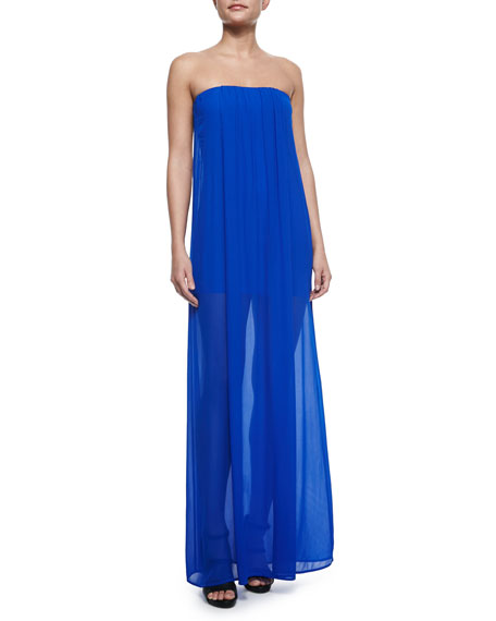 Young Fabulous and Broke Elenor Strapless Sheer Maxi