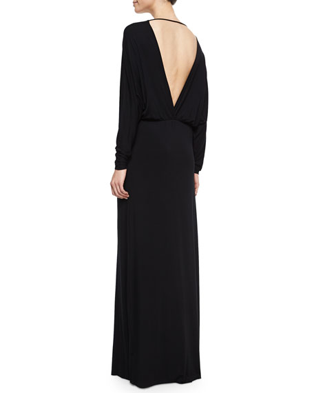 Young Fabulous and Broke Eaton V-Neck Maxi Dress, Black