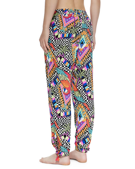 Slouchy Printed Coverup Pants