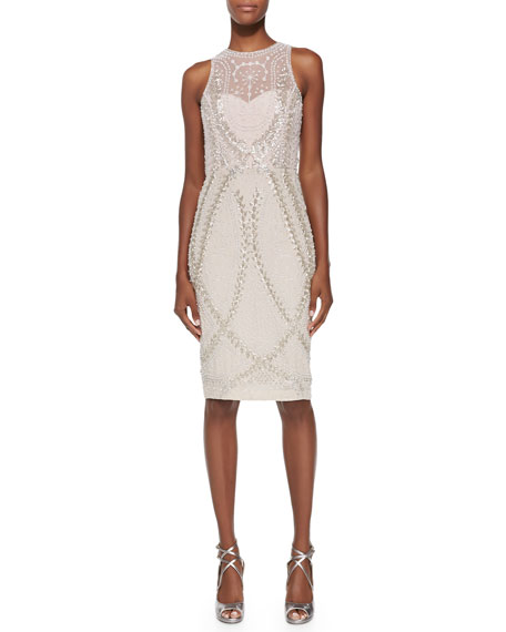 Rachel Gilbert Avalon Sleeveless Embellished-Tulle Dress