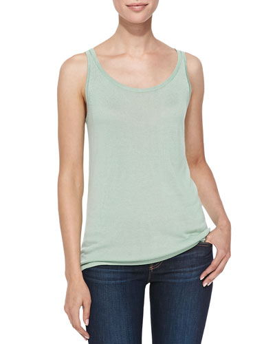 Scoop-Neck Bambo Cashmere Tank