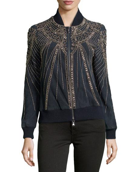 Embellished Suede Jacket