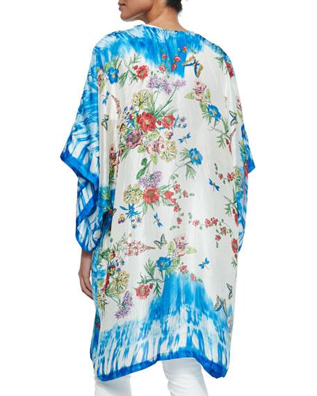 Wilkins Floral-Print Kimono, Women's