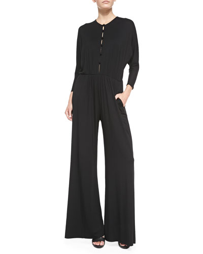 Russo Crewneck Wide-Leg Jumpsuit, Women's