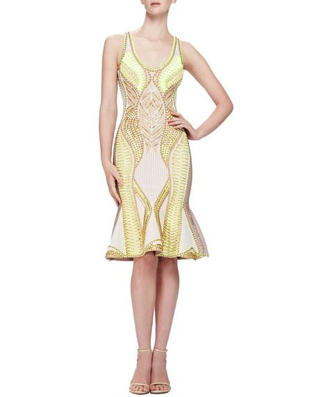 Multi-Embellished Knit Dress