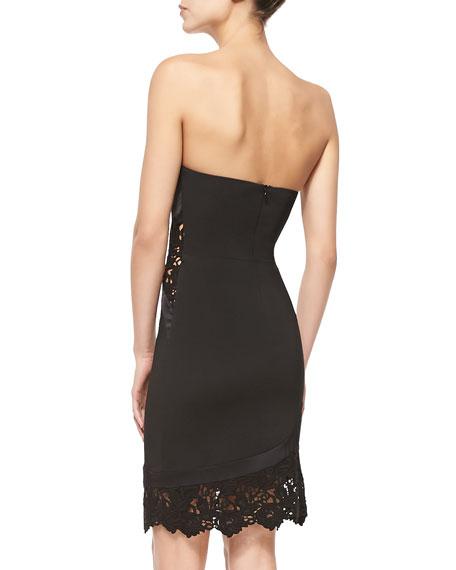 Alexis Kalisz Strapless Dress W Lace Detail