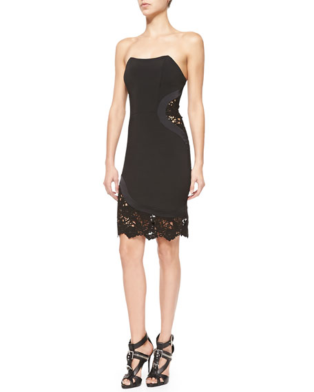 Alexis Kalisz Strapless Dress W/ Lace Detail