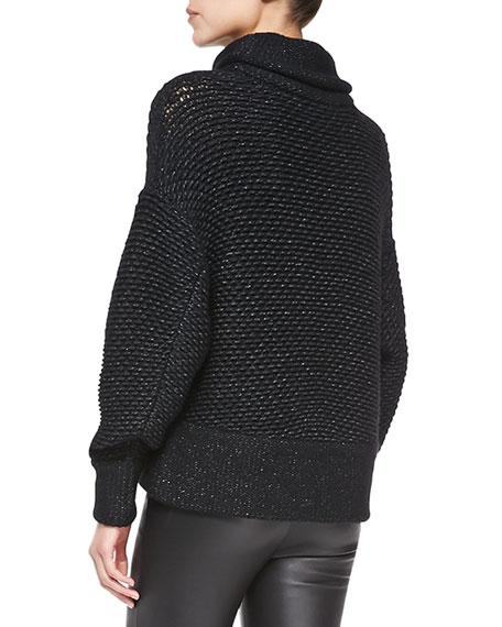 Opacity Shimmery Knit Oversize Sweater
