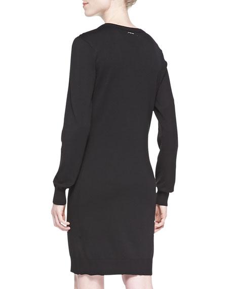 ff78cc53caa MICHAEL Michael Kors Long-Sleeve Studded Sweater Dress