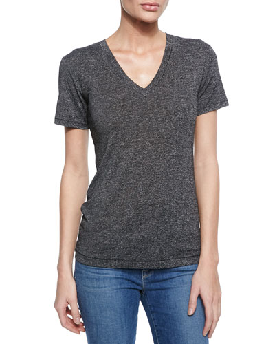 Classic Cotton V-Neck Tee