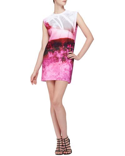 McQ Alexander McQueen Abstract Tree-Print Sleeveless Dress