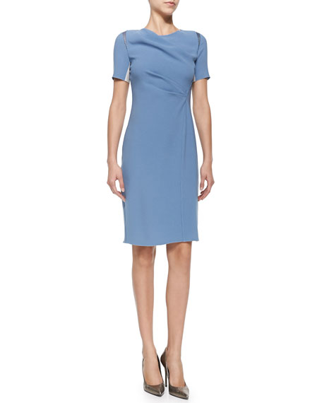 Elie TahariAmymarie Short-Sleeve Dress W/ Side Pleat