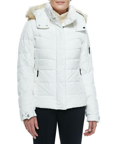 bogner sale puffer fur trim hooded jacket. Black Bedroom Furniture Sets. Home Design Ideas