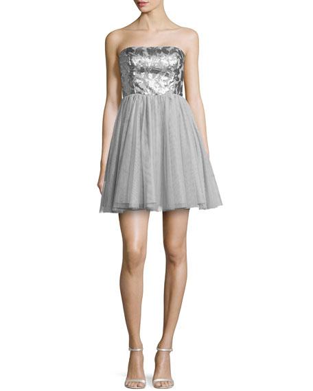 Beaded Bodice Party Dress