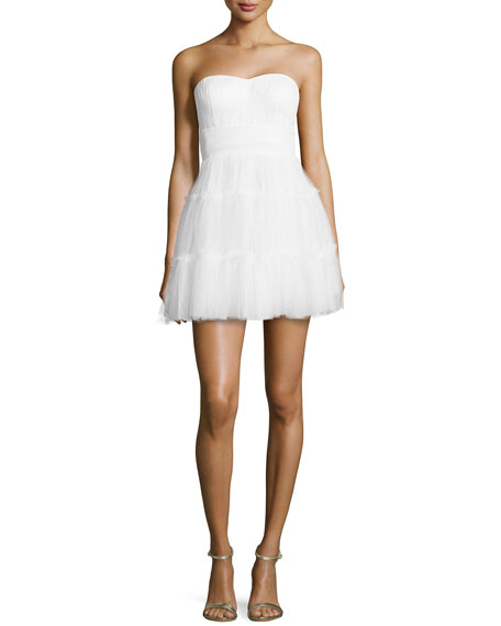 Strapless Mesh Party Dress