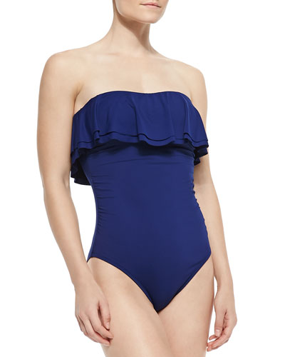 Ruffled Bandeau One-Piece