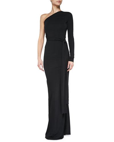 Diane von Furstenberg Coco Single-Sleeve Jersey Gown