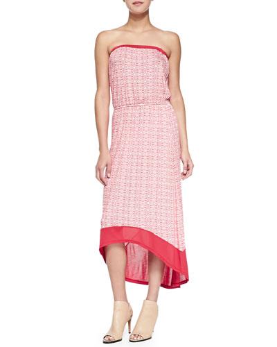 Primitivo Strapless Printed High-Low Dress