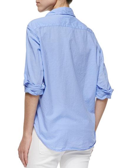 Eileen Long-Sleeve Poplin Blouse, Lavender