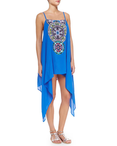 Sun Goddess Printed Coverup Dress