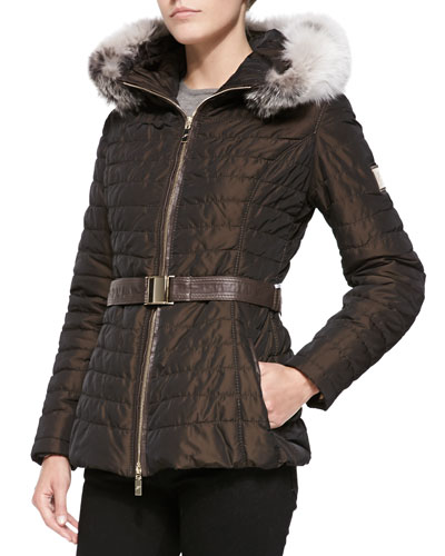 Apres-Ski Puffer Jacket W/ Iceberg Fur-Trim