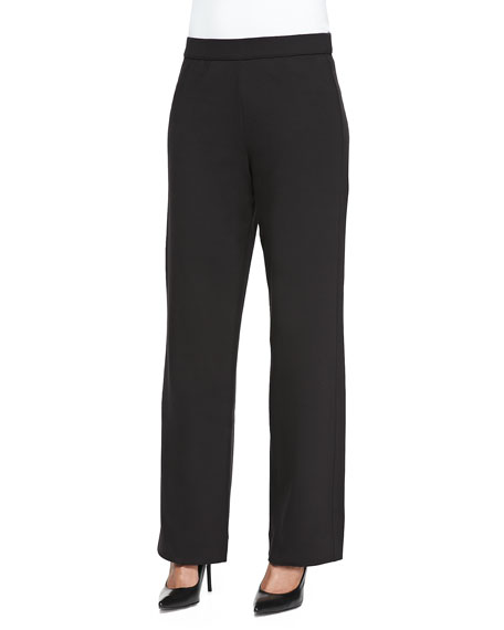 Joan Vass Full-Length Jog Pants, Black, Petite