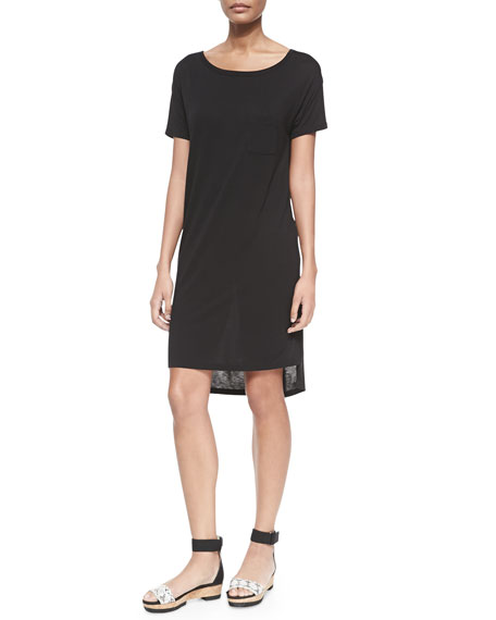 T by Alexander Wang Short-Sleeve T-Shirt Dress with