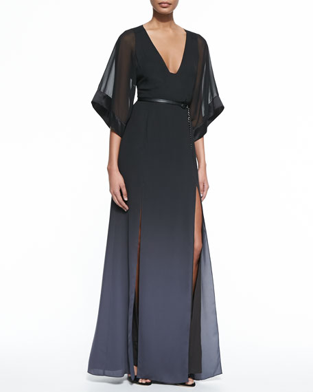 Ombre Printed Caftan Gown