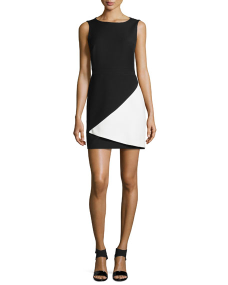BCBGMAXAZRIA Jesica Contrast Folded Dress