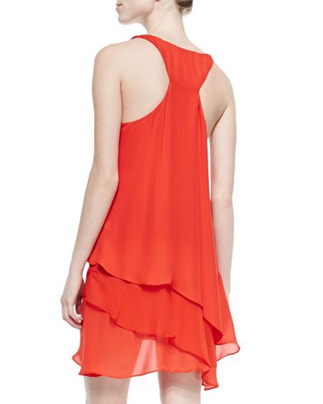 Layered-Hem Asymmetric Dress