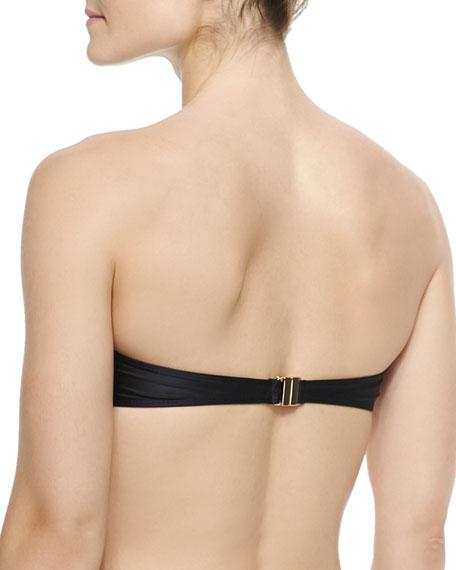 Pleated Bandeau Swim Top