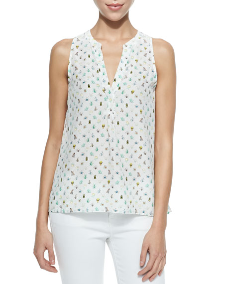 Aruna Sleeveless Nature-Print Top