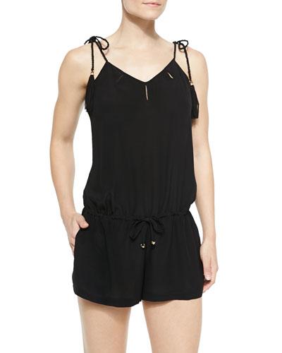 Skyla Jumpsuit W/ Tasseled Shoulders