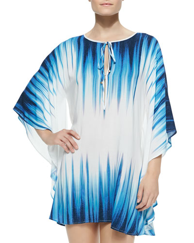 Nile Printed Voile Caftan Coverup