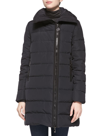 Gerbois Puffer Coat, Black