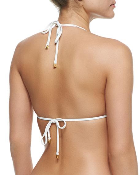 Mira Pineapple-Print Bikini Top