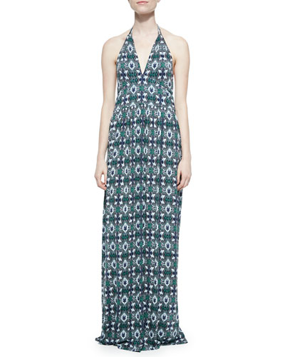 Laguna Printed Halter Maxi Dress