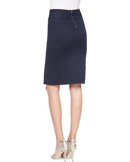 front slit ponte pencil skirt